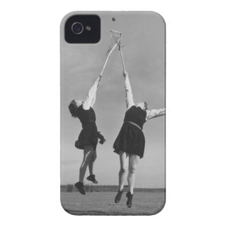 Two lacrosse players jump for the ball. iPhone 4 Case-Mate case