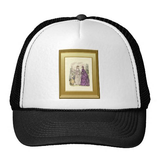 Two ladies and a child mesh hat