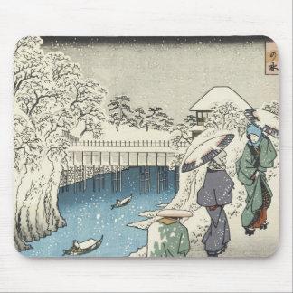 Two Ladies Conversing, Hiroshige, 1853 Mousepad