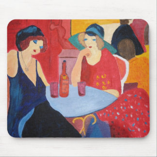 Two Ladies in a Cafe Mouse Mat