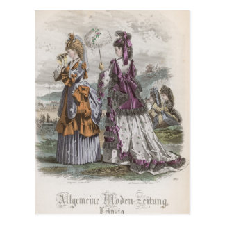 Two Ladies Postcard
