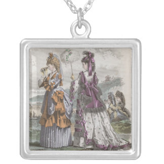 Two Ladies Silver Plated Necklace