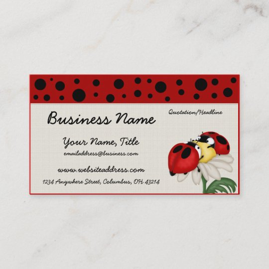 Two ladybugs on a flower business cards zazzle two ladybugs on a flower business cards colourmoves