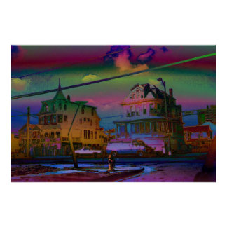 Two Large Victorian Houses III Poster