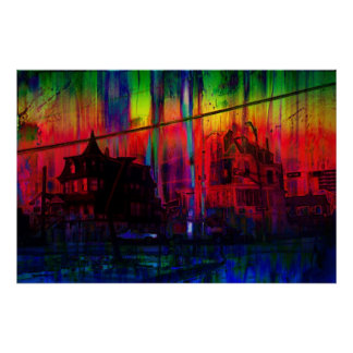 Two Large Victorian Houses Poster