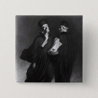 Two Lawyers, c.1862 15 Cm Square Badge