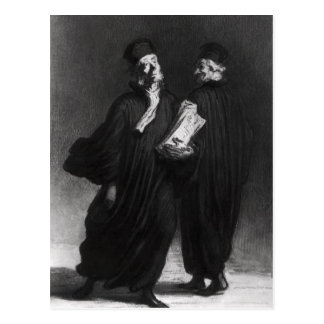 Two Lawyers, c.1862 Postcard