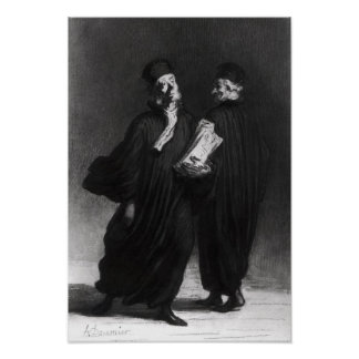 Two Lawyers, c.1862 Poster