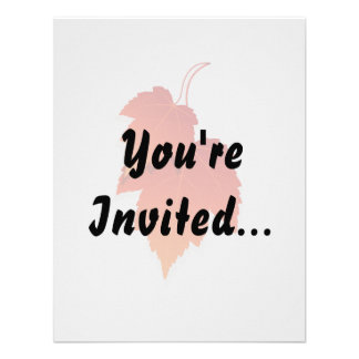 two leaves in fall colours png custom invitations