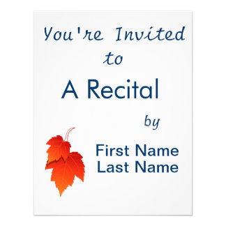 two leaves in fall colours png custom invites