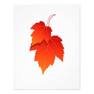 two leaves in fall colours png personalized invite
