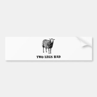 Two Legs Bad Sheep Bumper Stickers