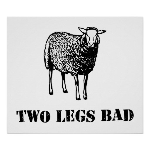 Two Legs Bad Sheep Poster