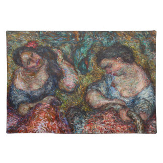 "Two Lei Sellers 14"" x 20"" Place Mats"
