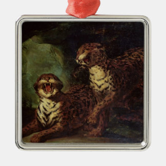 Two Leopards, c. 1820 Christmas Ornament