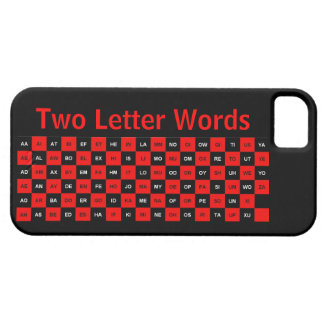 Two Letter Words Black and Red US version iPhone 5 Cover