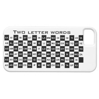 two letter words in black and white iPhone 5 cases