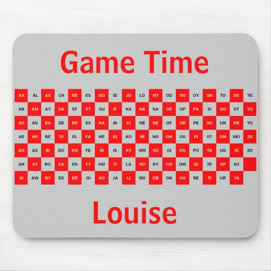 Two Letter Words  mousepad Red & Grey Intrl. ver.