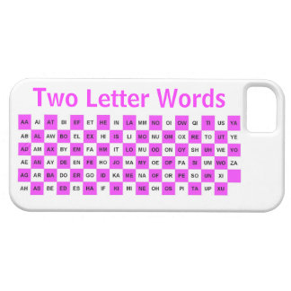 Two Letter Words  Pink and White US version Barely There iPhone 5 Case