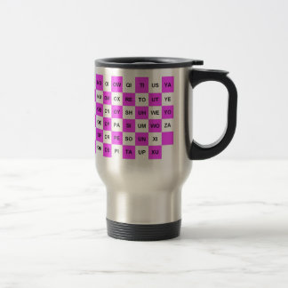 Two Letter Words Pink and White US version Mugs