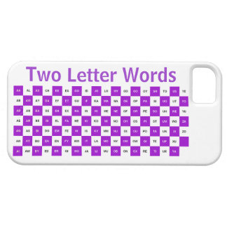 Two Letter Words  Purple and white Intrl. ver. iPhone 5 Cover