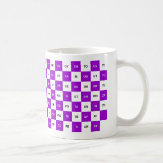 Two Letter Words  Purple and white Intrl. version Basic White Mug