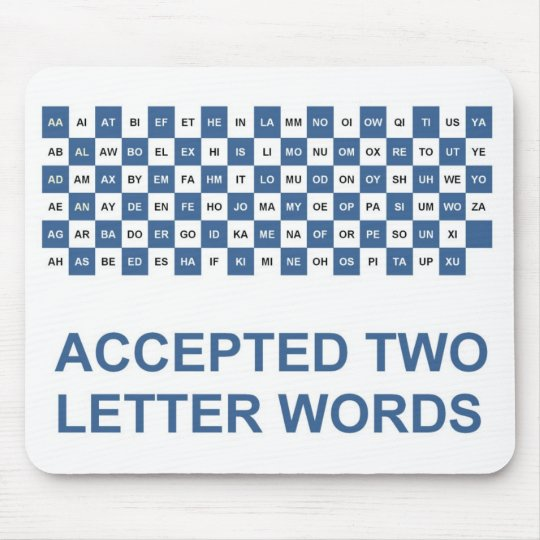 Two letter words US version Mouse Mat