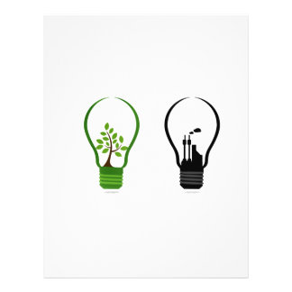 two lightbulbs one eco one black city png personalized flyer