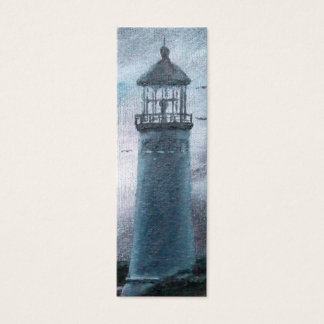 Two Lighthouses Bookmark Mini Business Card