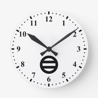 Two lines,Divided into seven Round Wall Clocks