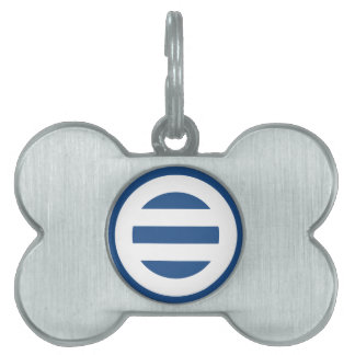 Two lines,Divided into seven Pet Tags