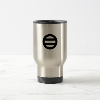Two lines,Divided into seven Stainless Steel Travel Mug