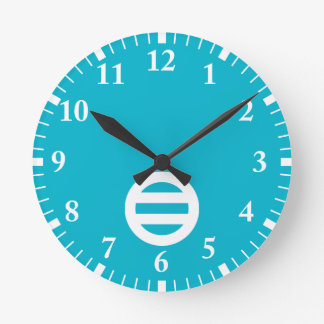 Two lines,Divided into seven Wall Clock