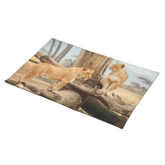 Two Lionesses Placemat