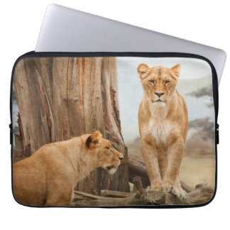 Two Lions Couple Laptop Sleeve