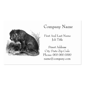 Two Lions in the Wilderness Business Card Templates