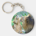 Two Lions Key Chain