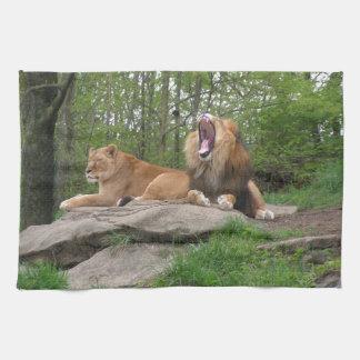Two Lions Tea Towel