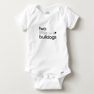 'Two Little Bulldogs' Baby Jumpsuit