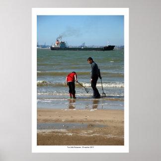 Two Little Fishermen Poster