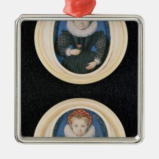 Two Little girls, 1590 Christmas Ornament
