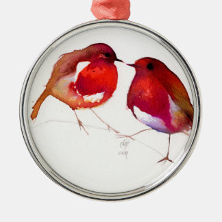 Two Little Ink Birds 2014 Christmas Ornament