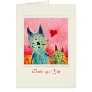 Two Little Love Cats Greeting Card
