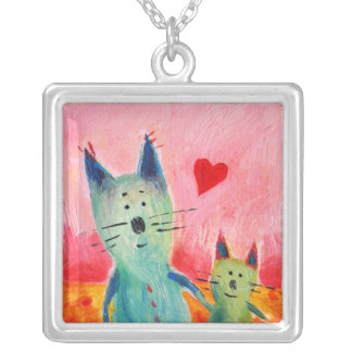 Two Little Love Cats Necklace