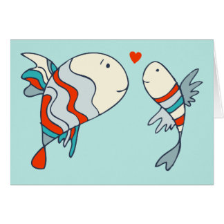 Two Little Love Fish Card