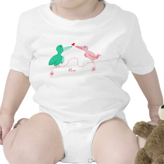 Two Little Lovebirds Baby Tee