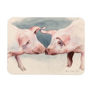 Two Little Piggies 2012 Rectangular Photo Magnet