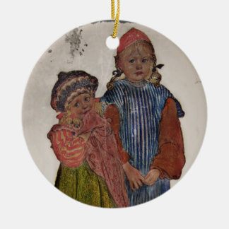 Two Little Sisters 1906 Christmas Ornament