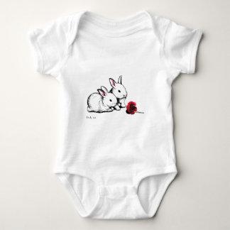 Two Little White Rabbits Baby Bodysuit