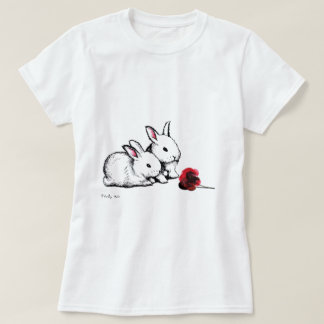 Two Little White Rabbits T-Shirt